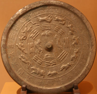 Bronze mirror with the twelve animals of the Terrestrial Branches