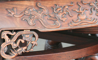 Furniture with dragon design