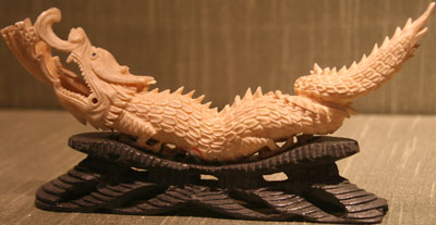 Carved ivory dragon