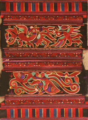 Miao sleeve attachments with embroidered animal design