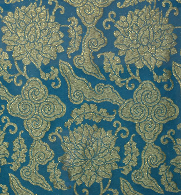 Brocade with flower and cloud design